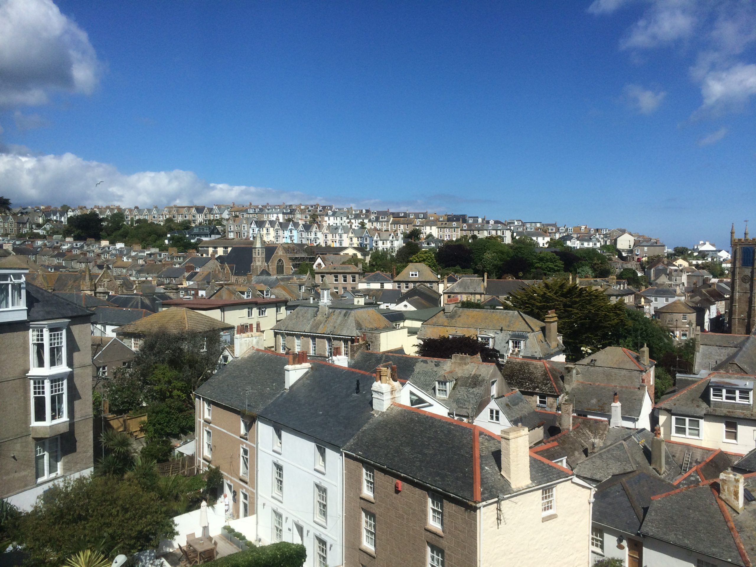 Overlooking the Rooftops in St Ives