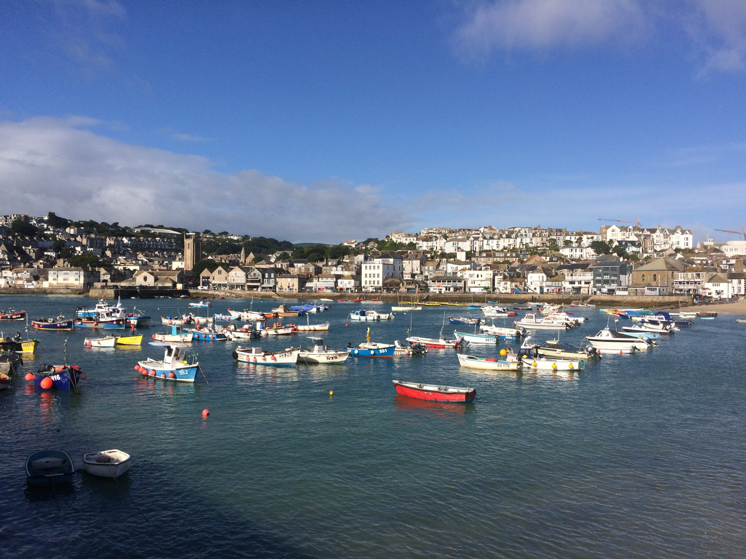 St Ives Harbour looking towards Trenwith.