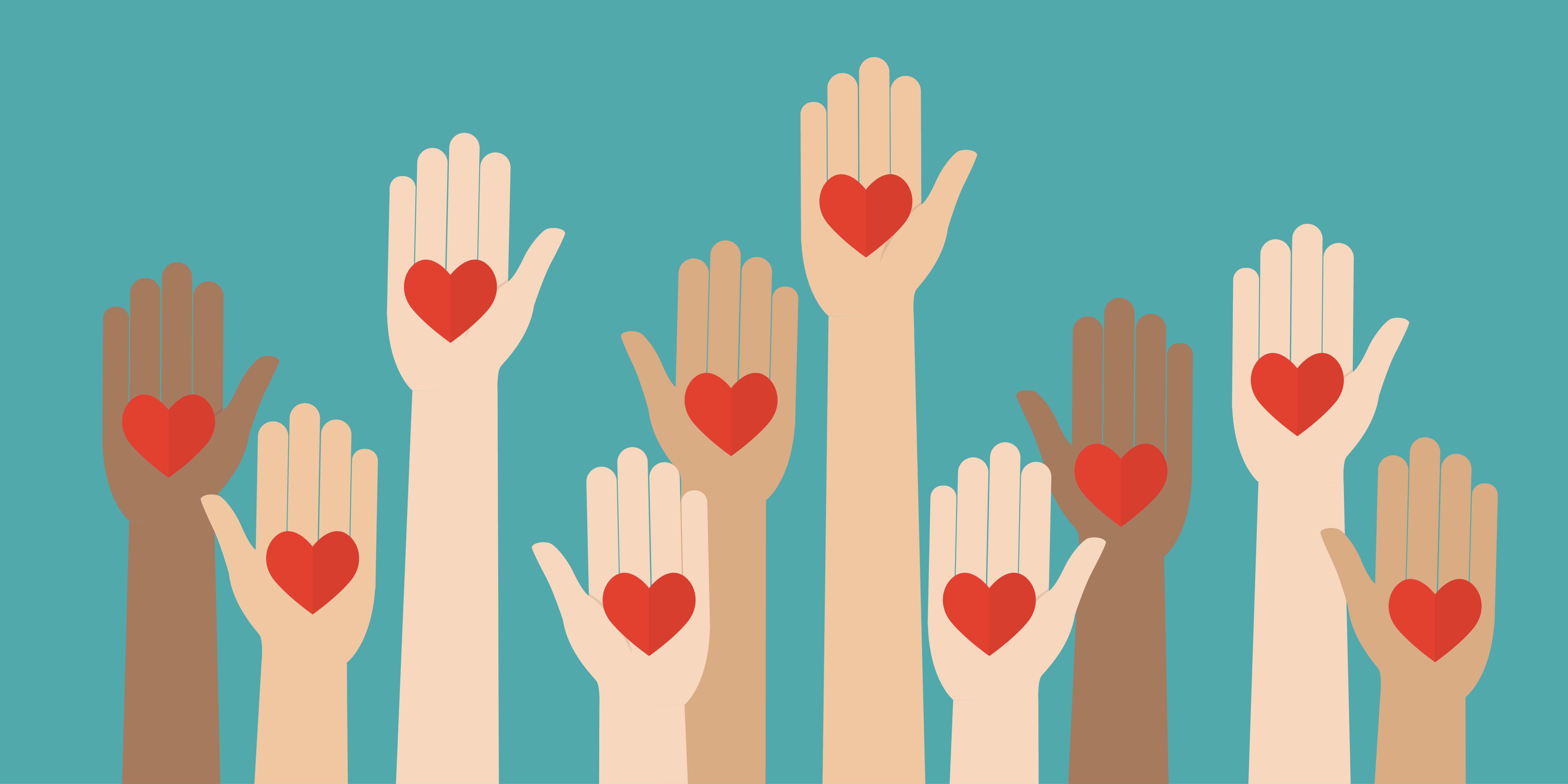 Volunteer image - hands with hearts
