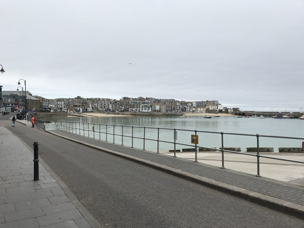 St Ives Harbour on Sunday 3rd May 2020 during the Spring lockdown