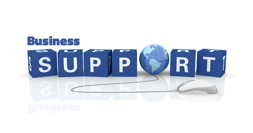 Image that says 'Business Support'